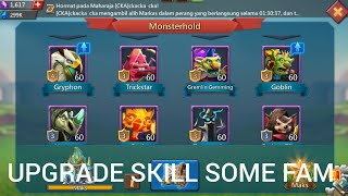 How F2p To Upgrade Skill Fam ?? Review Counter Research & Boost Troops !! Lord Mobile !!