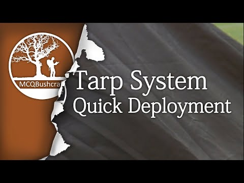 Bushcraft Shelters: Quick Deployment Tarp System