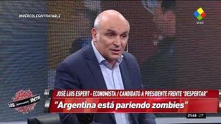 """José Luis Espert en """"Intratables"""" con Andino, por América el 17 de abril de 2019"""