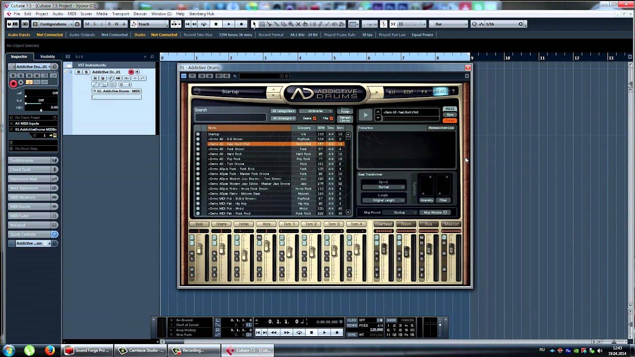 Record Drum Machine In Cubase : cubase 7 5 6 vsti addictive drums youtube ~ Hamham.info Haus und Dekorationen