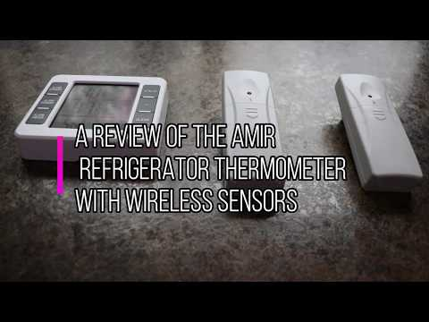 AMIR WIRELESS REFRIGERATOR  THERMOMETER