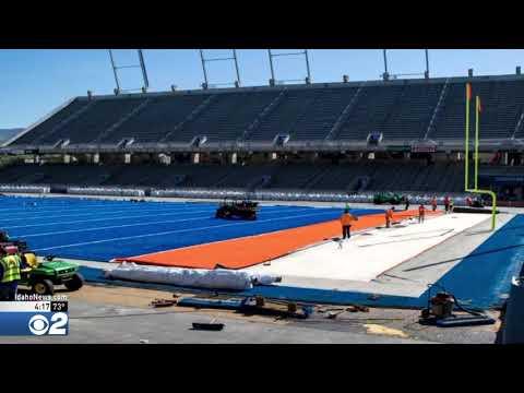 Albertsons Stadium Gets New Blue Turf