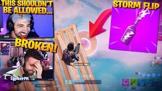 THE BROKEN STORM FLIP + SKYBASE STRAT!! ft. Nickmercs, Aydan and Jarvis (Fortnite Battle Royale)