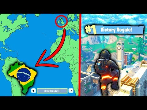 PLAYING FORTNITE on 'BRAZIL' SERVERS... 🇧🇷 (WTF!)