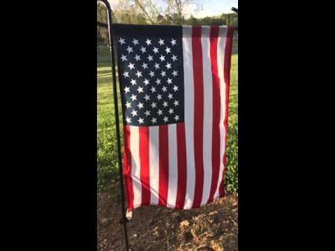 Sturdy Metal Flag Stand + American Flag by GreenWe