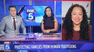 Talking to Fox 5 San Diego about protecting children and victims of human trafficking