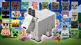 GOAT VS ALL MOBS | MINECRAFT
