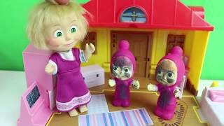 Küçük Maşalar Çok Kirlendi Maşa Küçük Maşaları Renkli Suda Yıkıyor Maşa İzle
