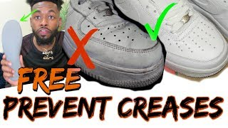 How to Prevent Creases for Free | Air Force 1 & Other Sneakers