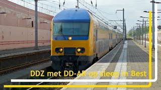 [EXTREEM BIJZONDER!] DDZ met DD-AR op sleep in station Best // 15 mei 2017