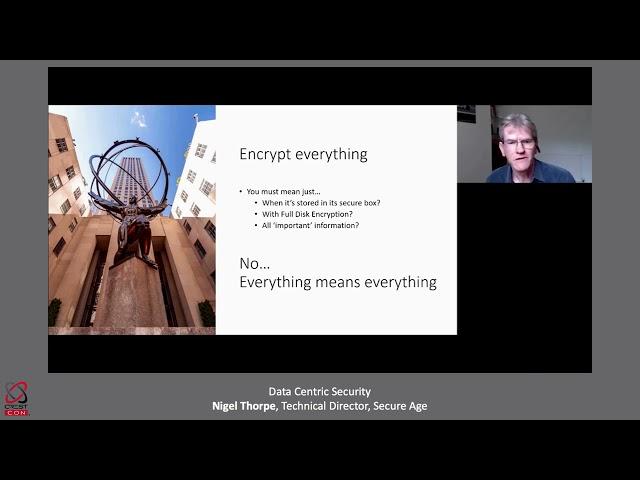 Data Centric Security: Nigel Thorpe (Technical Director, SecureAge)   CRESTCon UK
