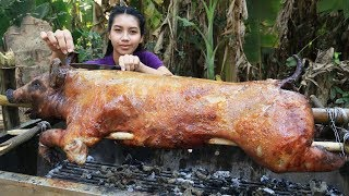 Yummy cooking roasted pig BBQ recipe - Cooking skill
