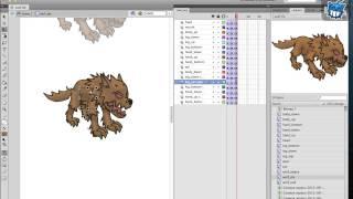 Combats   Wolf: создание и анимация персонажа для игры в Adobe Flash