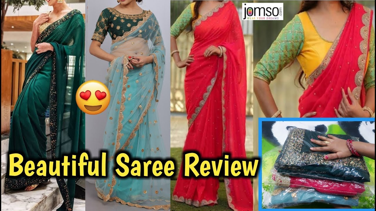 6654d4ee44b4a0 *NEW ARRIVAL* Jomso Saree Haul | Jomso Sarees Reviews | Unboxing & Review|  Jomso Haul