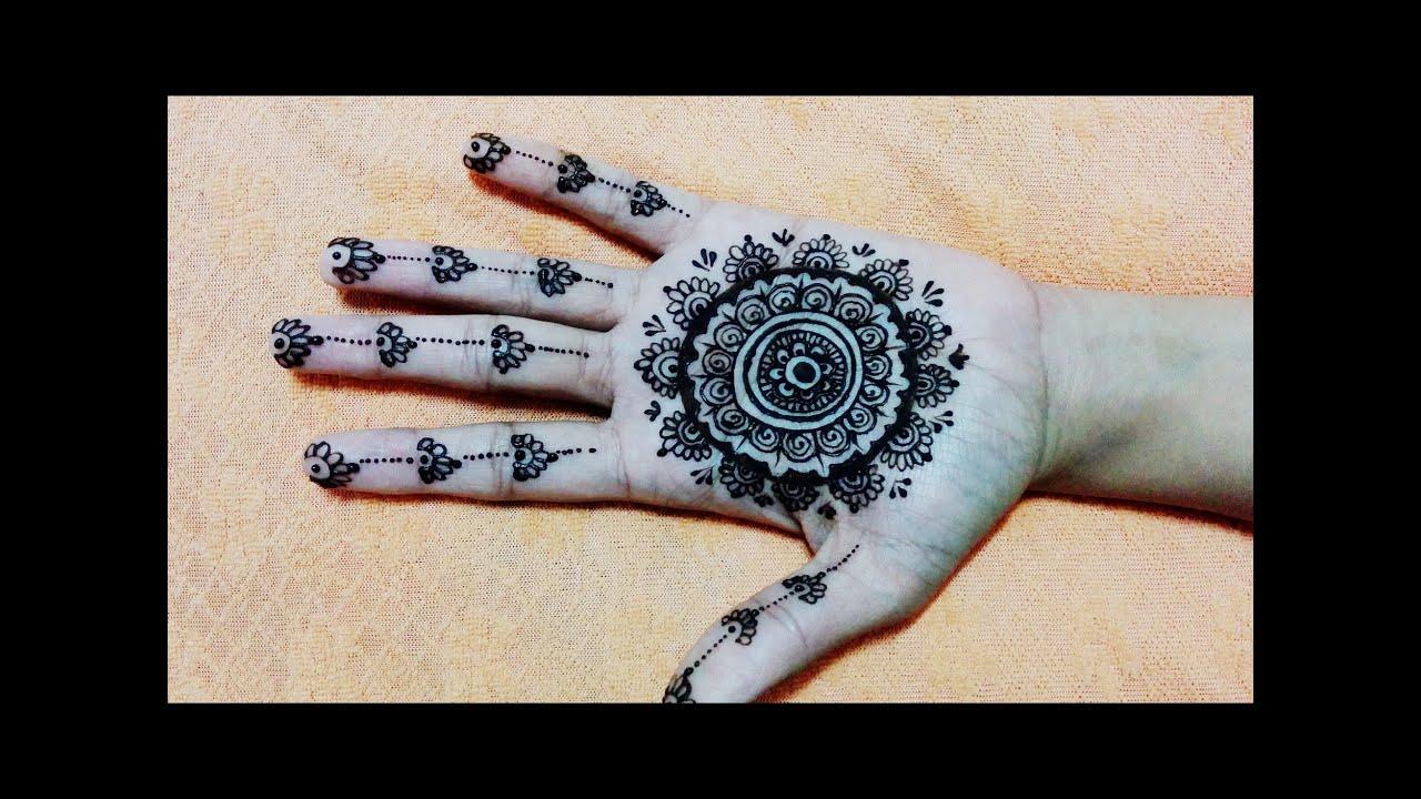 Cute Easy Unique Circular Mehndi Designs Simple Mehendi Design