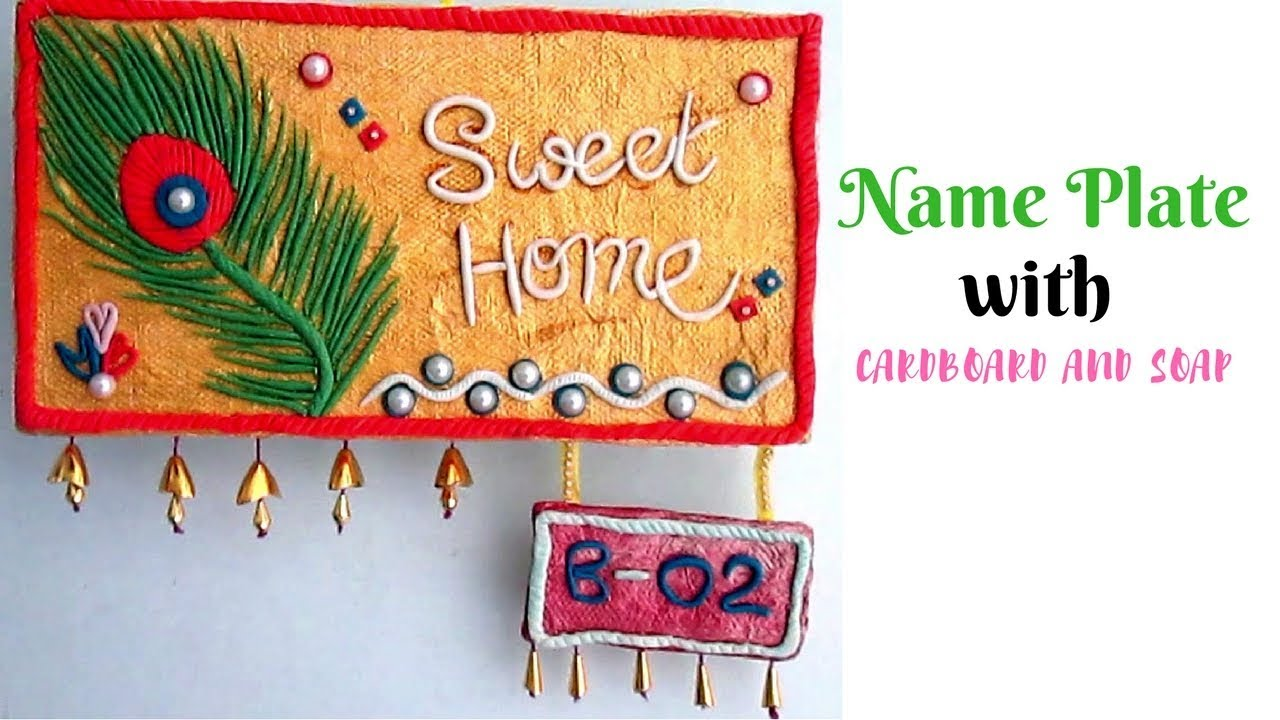 Diy Handmade Name Plate Making With Cardboard And Soap Wall Murals