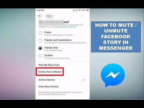 How to Mute / Unmute Facebook Story In Messenger In Android