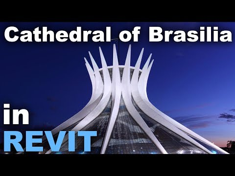 Cathedral of Brasilia modeled in Revit Tutorial