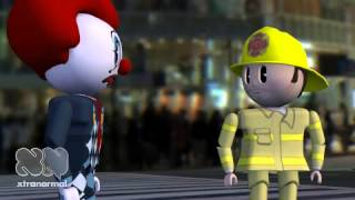 Firefighter Vs STD Clown  Foster&Stevens Productions