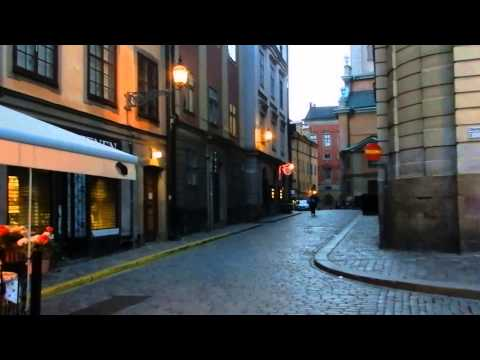 Stockholm - Night Time Gamla Stan Walk at 22:00 - 2014 06 22