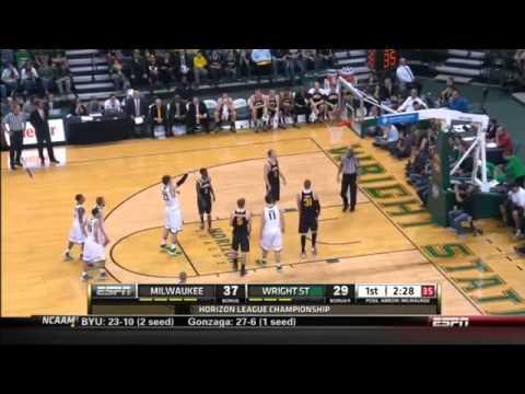Aaron Jordan - Wisconsin Milwaukee vs Wright State