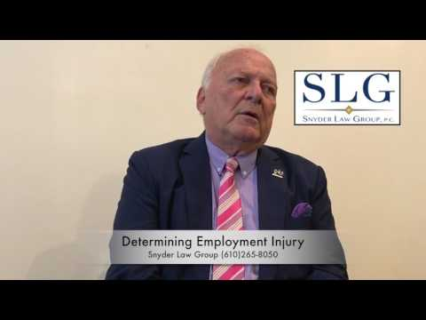 Determining Employment Injury | Personal Injury Lawyers | King Of Prussia PA