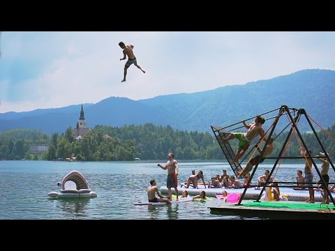 Extreme Russian Swing Flips into a Lake! | Daredevils