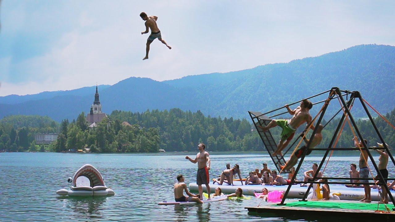 53ec066218eb Extreme Russian Swing Flips into a Lake!