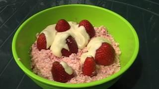 Творожный десерт с клубникой |  Curd dessert with strawberries