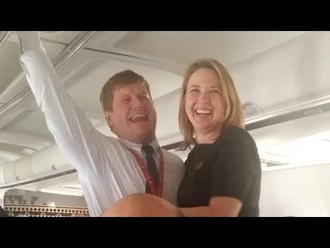3a9492222792 Alaska Airlines Inflight Wedding Proposal - YouTube