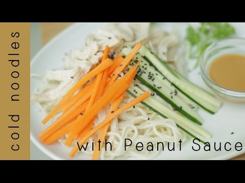 Taiwanese Cold Noodles | with Homemade Peanut Sauce - YouTube