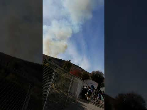 Fire in el sereno middle school