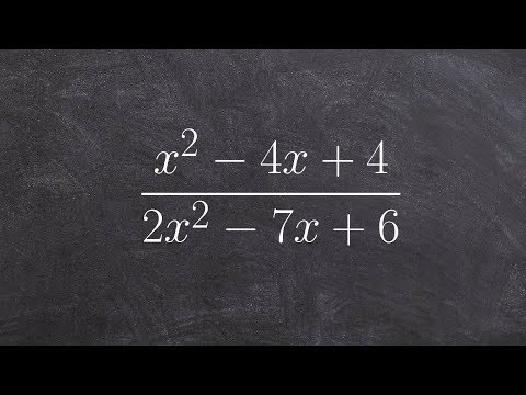 Simplify a rational expression by factoring in two different ways