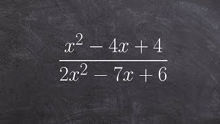 Simplify a rational ęxpression by factoring in two different ways