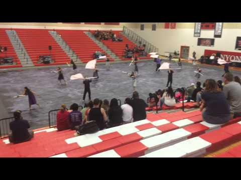 "Hidalgo Early College High School Winterguard  2015 ""Matters of the heart"""