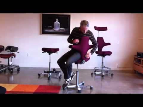 HAG Capisco Ergonomic Chair  YouTube