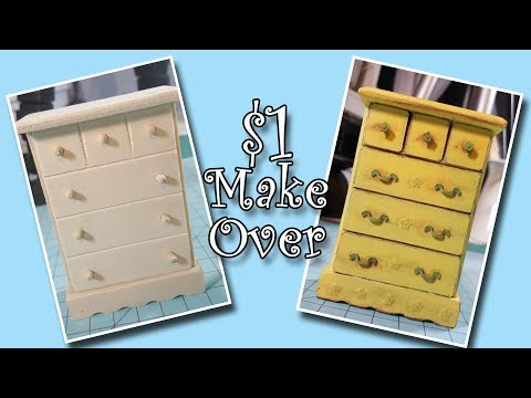 Dollar Store Miniature Furniture Make Over!!!