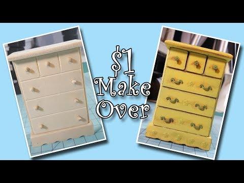 Dollar Store Miniature Furniture Make Over!!!