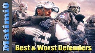 Best & Worst Defenders - Rainbow Six Siege - Year 3