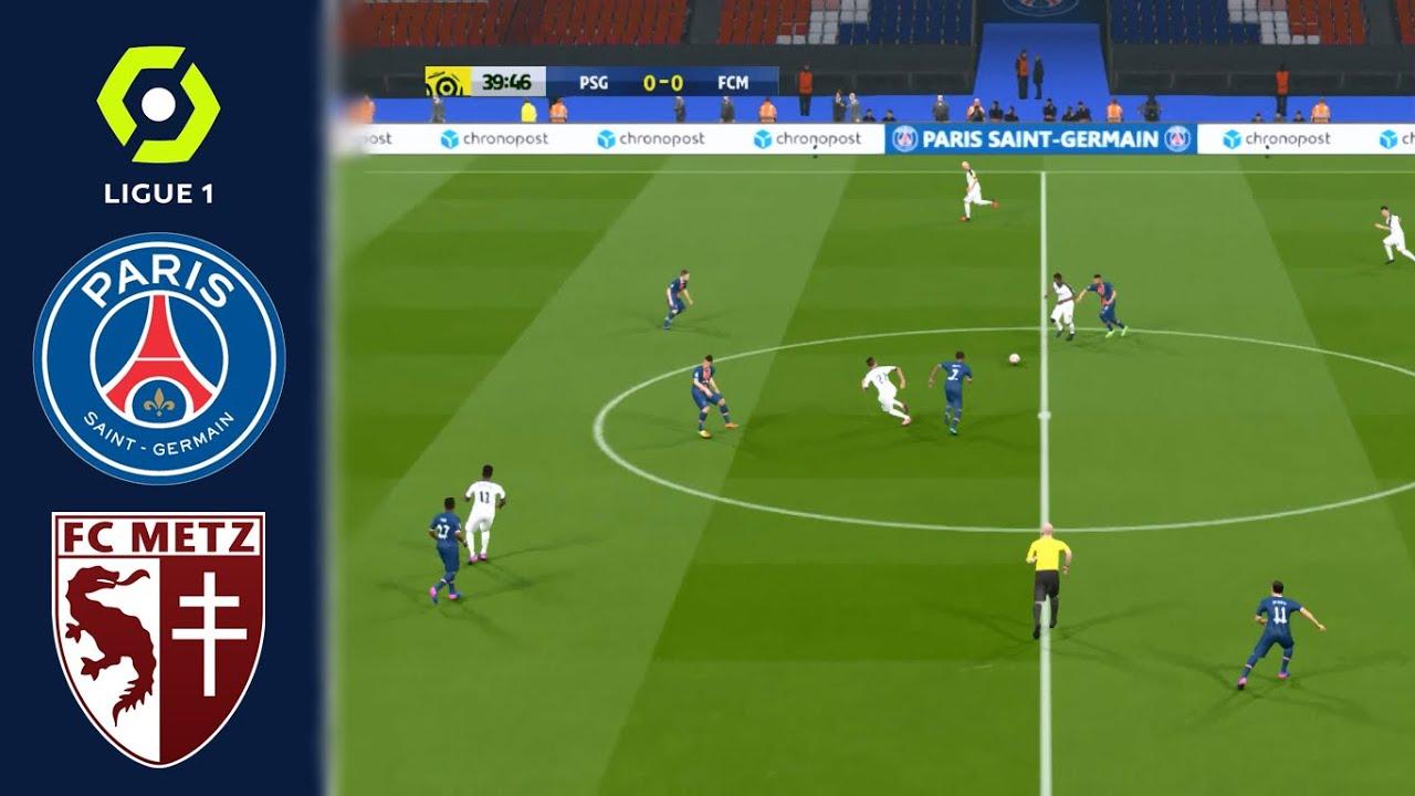 PSG vs Metz - Ligue 1 2020/2021 - 13 September 2020 - Full Match - PES 2017  (PC/HD) - YouTube