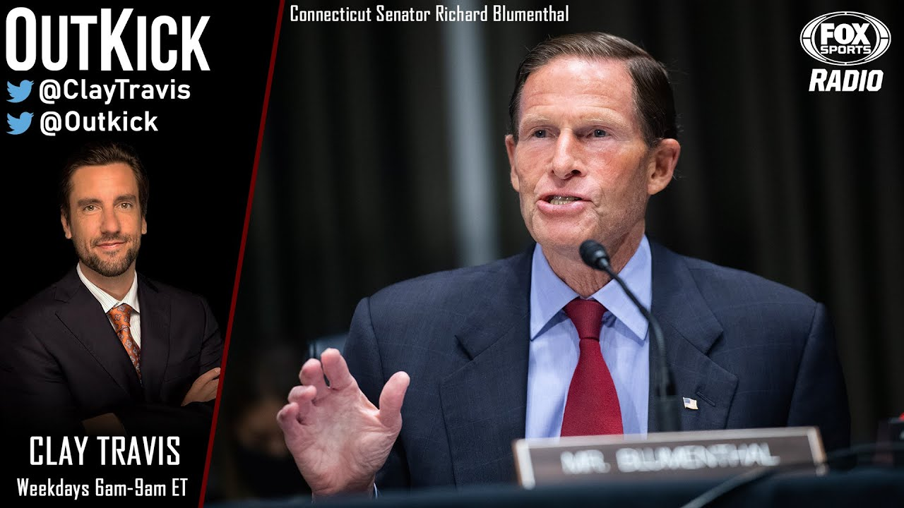 Clay DESTROYED Connecticut Senator Richard Blumenthal who said college football should be canceled