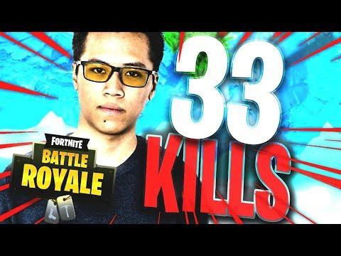 CHOKE UNE 33 KILLS ! MASSACRE DE KINSTAAR & ADZ (FORTNITE BATTLE ROYALE)