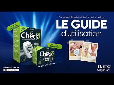 Guide d'utilisation du glucomètre Check 3