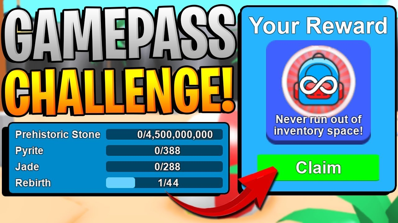 Roblox Mining Simulator Roblox Jade Youtube Secret Gamepasses Challenge In Roblox Mining Simulator Free Gamepasses Youtube