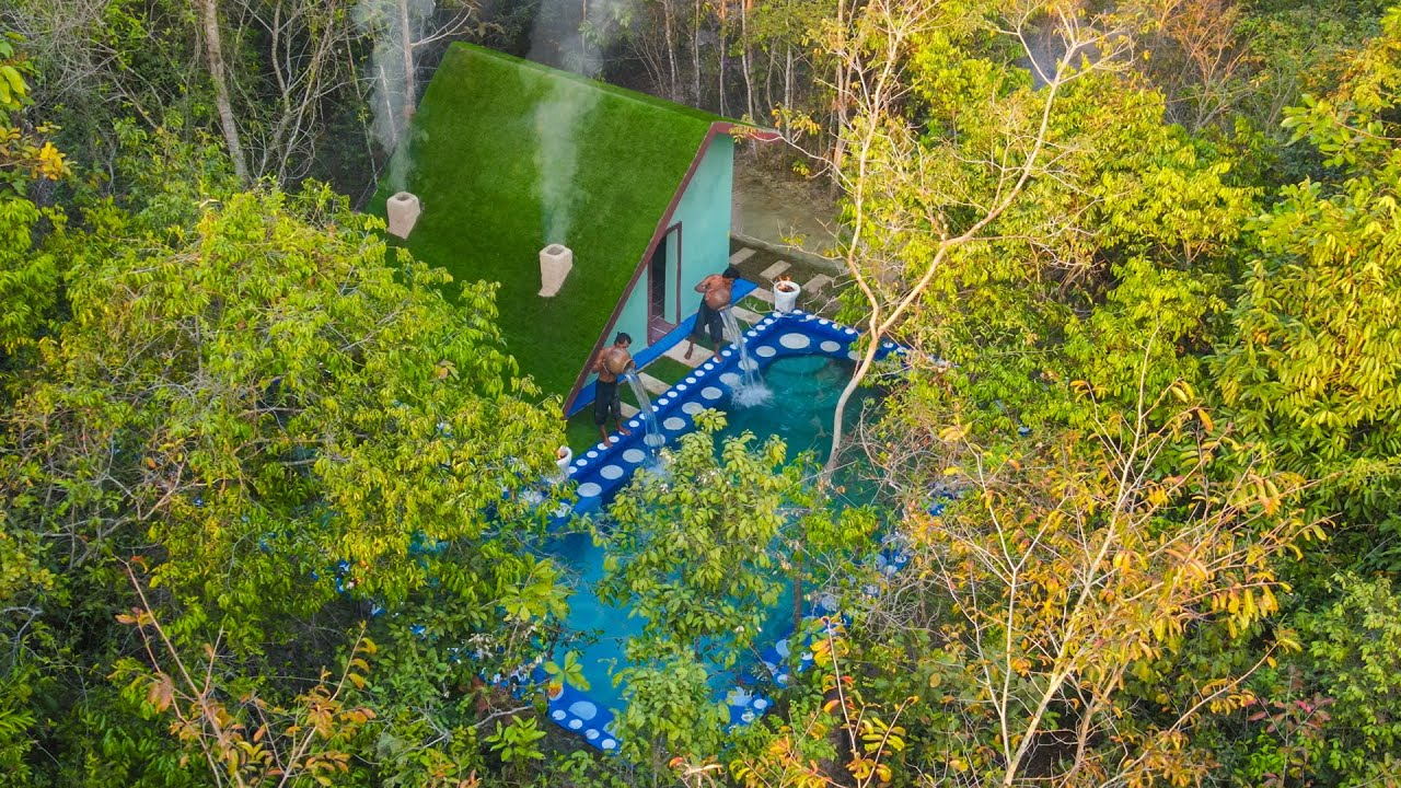 Build Most Secret and Contemporary Swimming Pool Villa in The Jungle