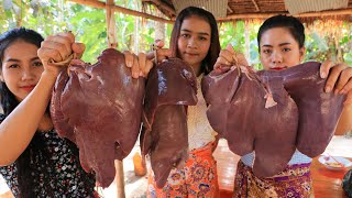 Cooking pork liver with vegetable recipe - Natural Life TV