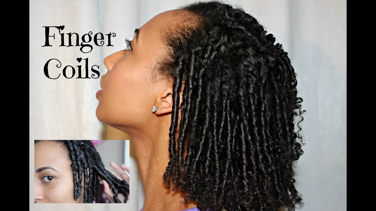 NATURAL HAIR How To PERFECT FINGER COIL Out YouTube
