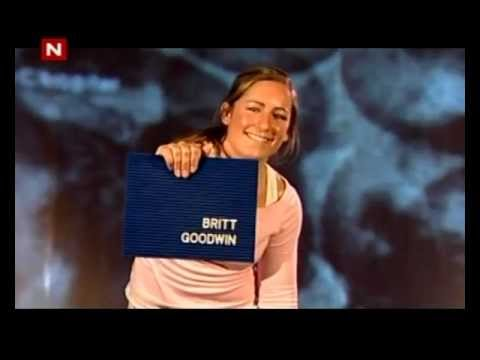 Britt Goodwin arrives at the Norwegian/Sweden Big Brother House in 2005.