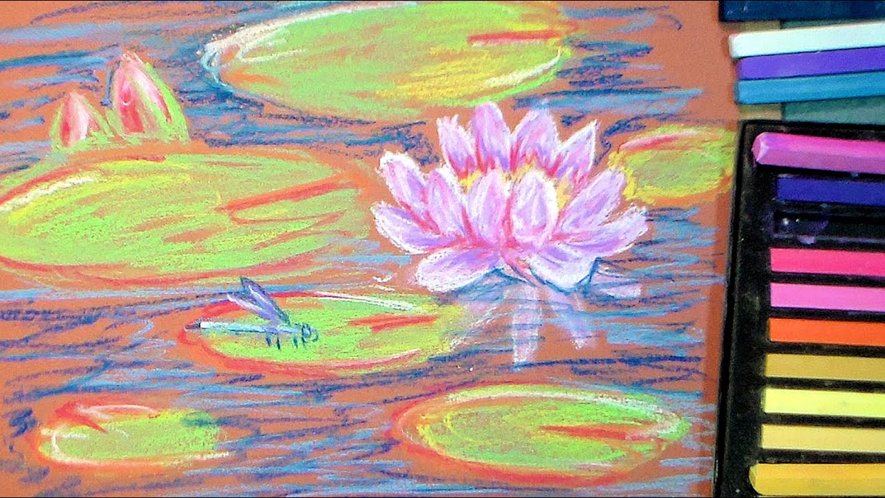 How To Paint Waterlilies In Pastel Youtube