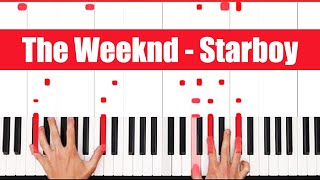 Starboy The Weeknd Piano Tutorial - EASY